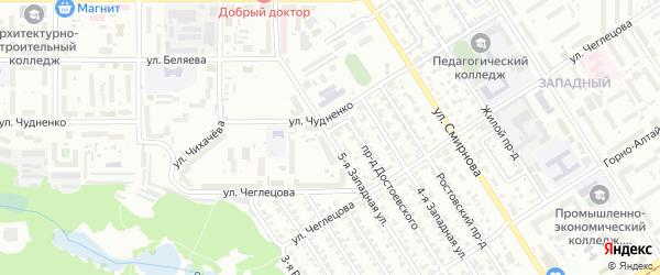 5-я улица на карте садового некоммерческого товарищества Ветерана с номерами домов