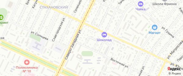 Восточный 1-й проезд на карте Барнаула с номерами домов