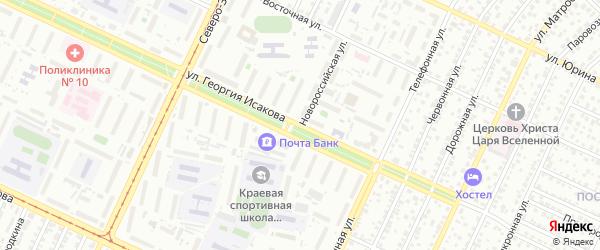 Новороссийская улица на карте Барнаула с номерами домов