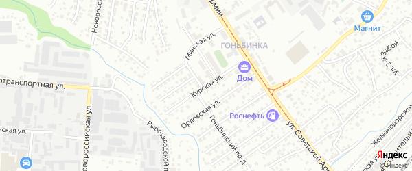Курская улица на карте Барнаула с номерами домов