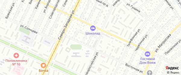 Новаторский проезд на карте Барнаула с номерами домов