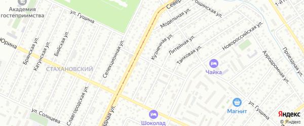 Цветочный проезд на карте Барнаула с номерами домов
