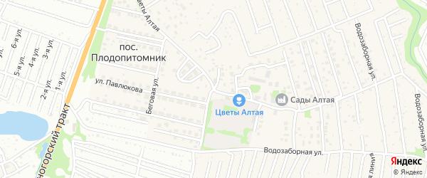 Беговая улица на карте поселка Плодопитомника с номерами домов