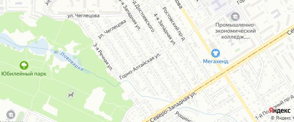 Речная улица на карте Барнаула с номерами домов