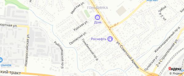 Тульская улица на карте Барнаула с номерами домов