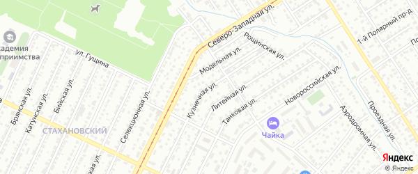 Кузнечная улица на карте Барнаула с номерами домов
