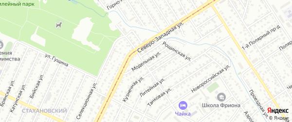 Модельная улица на карте Барнаула с номерами домов