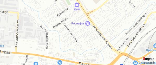 Огородная улица на карте Барнаула с номерами домов