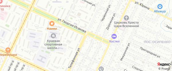 Телефонная улица на карте Барнаула с номерами домов