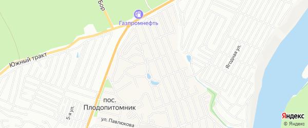Карта садового некоммерческого товарищества Алтайского садовода города Барнаула в Алтайском крае с улицами и номерами домов
