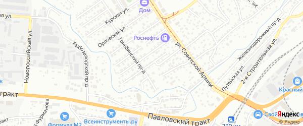 Огородный проезд на карте Барнаула с номерами домов