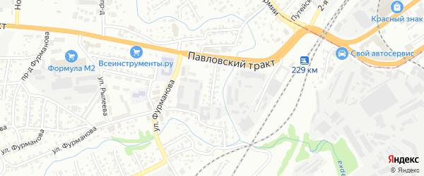 Белоярская улица на карте Барнаула с номерами домов