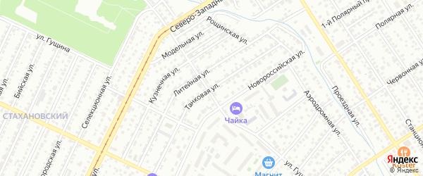 Танковая улица на карте Барнаула с номерами домов
