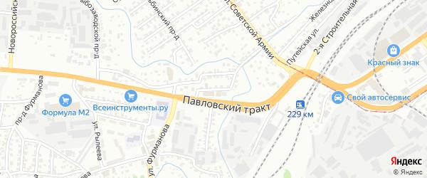 Трактовый проезд на карте Барнаула с номерами домов