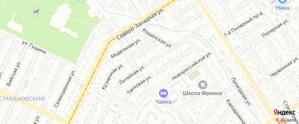 Литейная улица на карте Барнаула с номерами домов