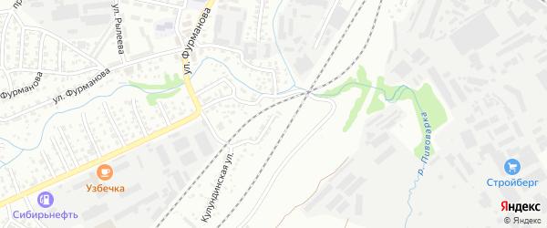 Кулундинская улица на карте Барнаула с номерами домов