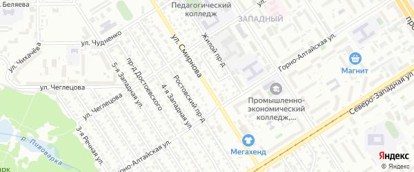 Улица Смирнова на карте Барнаула с номерами домов