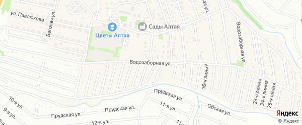 Водозаборная улица на карте поселка Плодопитомника с номерами домов