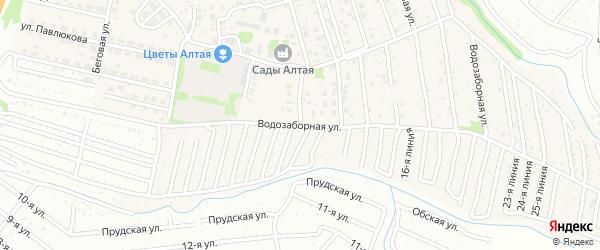 Водозаборная улица на карте Барнаула с номерами домов