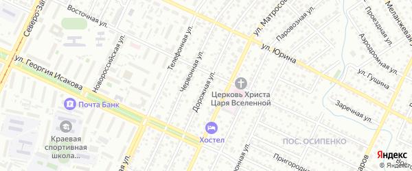 Дорожная улица на карте садового некоммерческого товарищества Полета с номерами домов