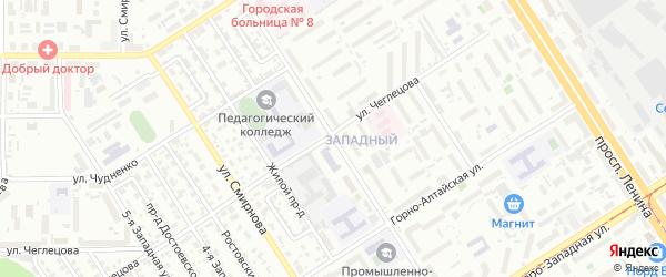 Улица 80 Гвардейской Дивизии на карте Барнаула с номерами домов