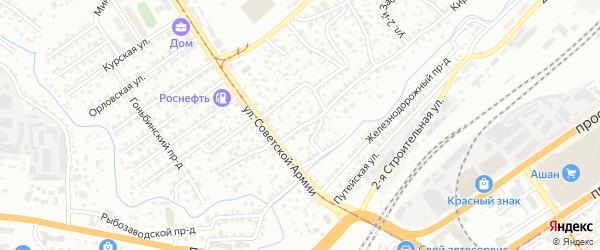 Подъемный проезд на карте Барнаула с номерами домов