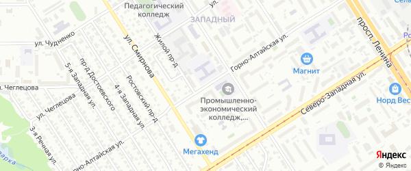 Горно-Алтайская улица на карте Барнаула с номерами домов