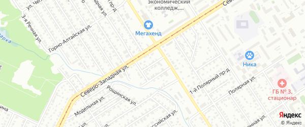 Детсадовский проезд на карте Барнаула с номерами домов