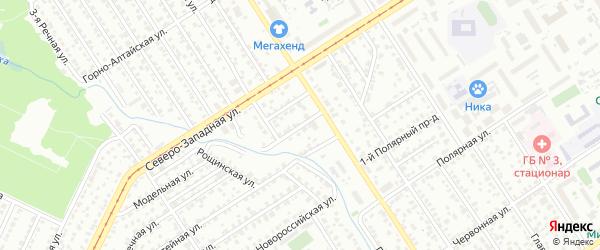 Гетмановский переулок на карте Барнаула с номерами домов