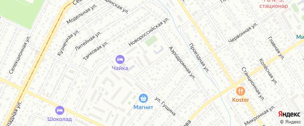 Воронежская улица на карте Барнаула с номерами домов