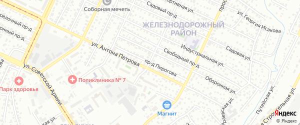 Проезд Пирогова на карте Барнаула с номерами домов