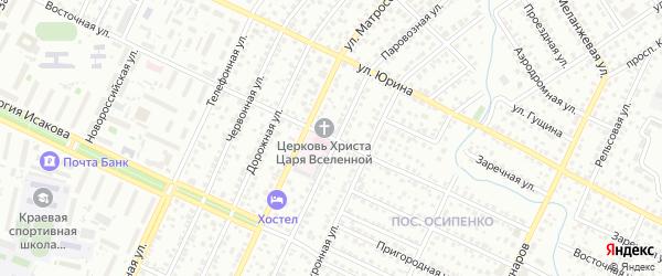 Восточная улица на карте Барнаула с номерами домов