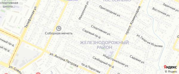 Садовая улица на карте садового некоммерческого товарищества Медика с номерами домов