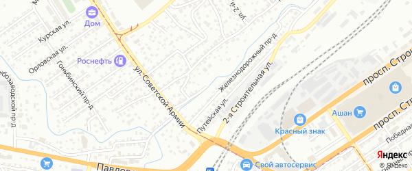 Пивоварская улица на карте Барнаула с номерами домов