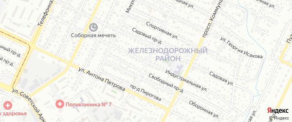Индустриальная улица на карте Барнаула с номерами домов