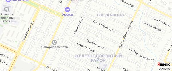 Спортивный проезд на карте Барнаула с номерами домов