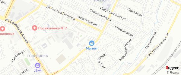 Кирпичная улица на карте Барнаула с номерами домов