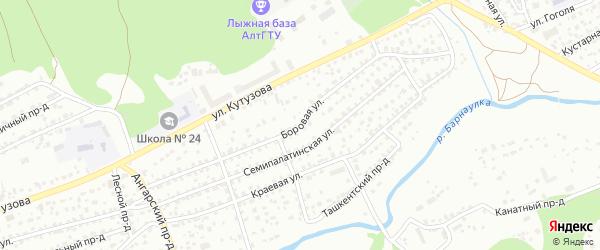Боровая улица на карте Барнаула с номерами домов
