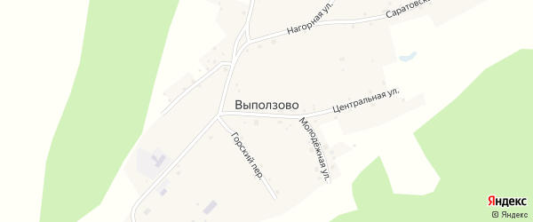 Нагорная улица на карте села Выползово с номерами домов