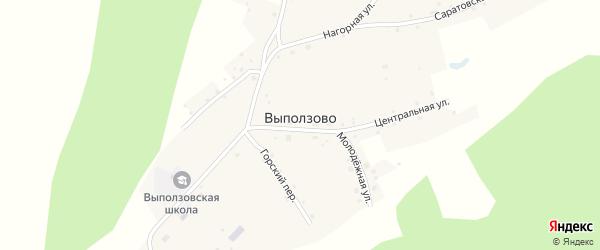 Саратовская улица на карте села Выползово с номерами домов