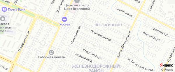 Пригородный проезд на карте Барнаула с номерами домов