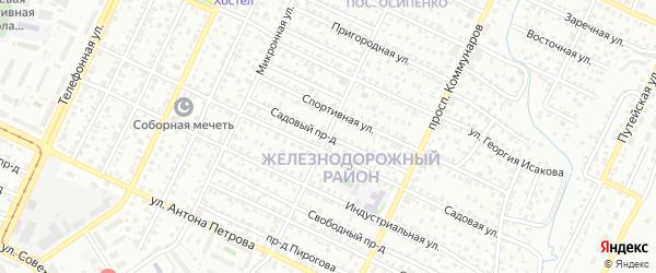 Садовый проезд на карте Барнаула с номерами домов
