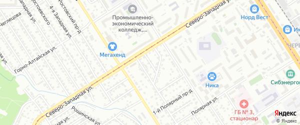 Тростильный проезд на карте Барнаула с номерами домов