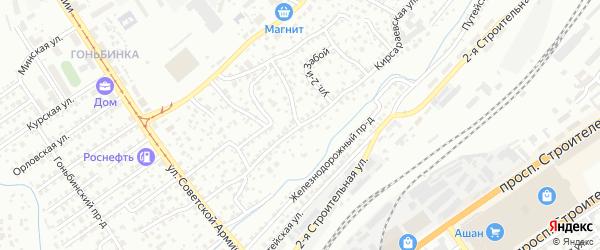 Кирсараевская улица на карте Барнаула с номерами домов