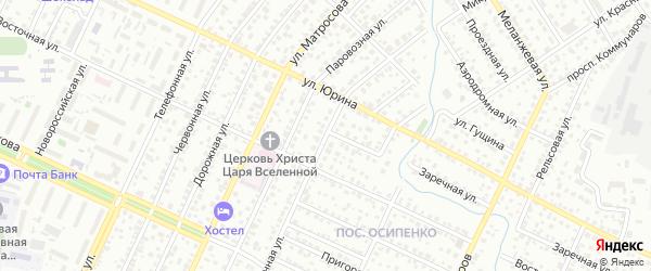Микронная улица на карте Барнаула с номерами домов