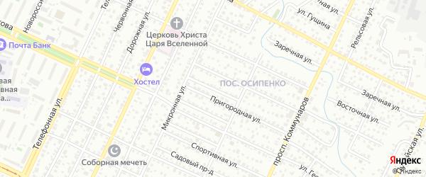 Парашютный переулок на карте Барнаула с номерами домов