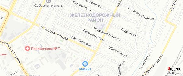 Оборонная улица на карте Барнаула с номерами домов
