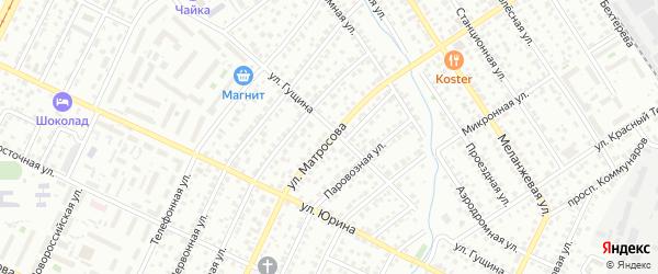 Улица Матросова на карте Барнаула с номерами домов