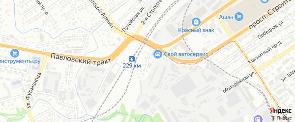 Улица Южные Мастерские на карте Барнаула с номерами домов