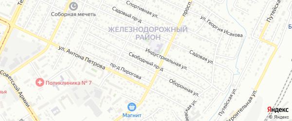 Свободный проезд на карте Барнаула с номерами домов
